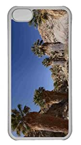 Customized iphone 5C PC Transparent Case - Desert Oasis Personalized Cover by lolosakes