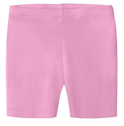 City Threads Big Girls Organic Cotton Underwear Bike Shorts for Sensitive Skin or SPD Sensory Friendly, Medium Pink, 8