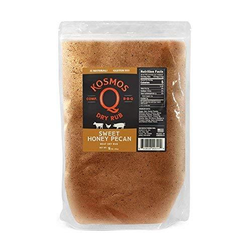 Kosmos Q Sweet Honey Pecan BBQ Rub | Sweet & Nutty Blend | Great on Brisket, Steak, Chicken, Ribs & Pork | Best Barbecue Rub | Meat Seasoning & Spice ()