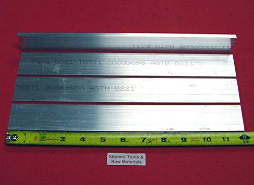 4 Pieces 1/4'' X 1-1/2'' Aluminum 6061 Flat BAR 12'' Long T6511 New Mill Stock .25''