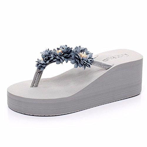 Las de Playa Cooler Zapatillas LIUXINDA Beach Sommer High Grau de de Nuevos XZ señora Moda la la Playa Moda Productos Zapatillas española Muffin Espesor Nueva Sacar azHYaq