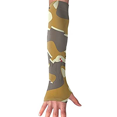 Like Puppy Unisex Half Finger Arm & Elbow High Compression Sleeve UV Proof Sun-proof Cuffs Riding