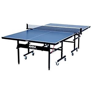 JOOLA 11200U  Inside 15mm Table Tennis Table with Net Set – Features Quick 10-Min Assembly, Playback Mode, Foldable Halves, Blue