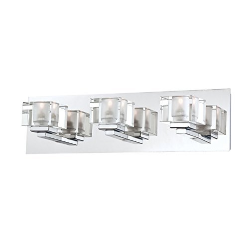 Everyday Portfolio - Portfolio 3-Light Prism Chrome Bathroom Vanity Light