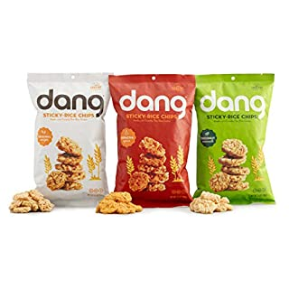 DANG Sticky Rice Chips | 3 Flavor Variety |Vegan, Gluten Free, Non Gmo Rice Crisps, Healthy Snacks Made With Whole Foods | 3.5 Oz Bags