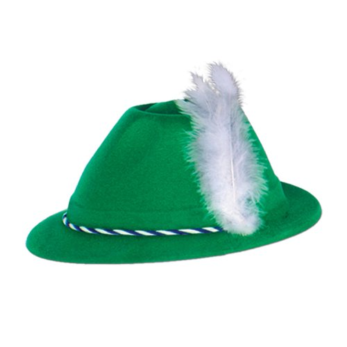 Green Velour Tyrolean Alpine Party Hat ()
