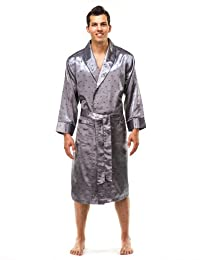 Noble Mount Mens Premium Satin Robe