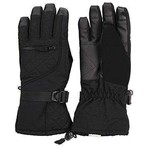 - Womens/Girls Warm Winter Waterproof Thinsulate Snow Glove (Black, Medium)