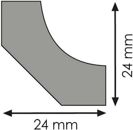 Hohlkehlleiste Abschlussleiste Abdeckleiste aus MDF in Bilbao 2600 x 24 x 24 mm