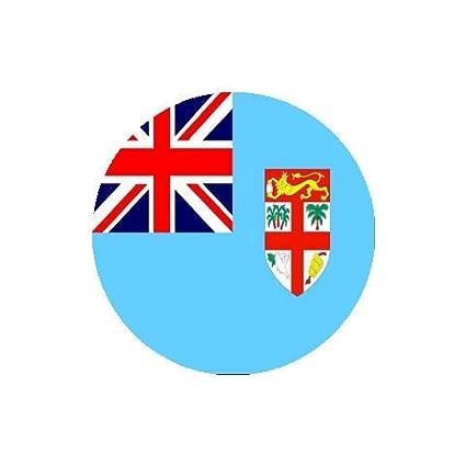 Amazon Com Fiji Flag Round Coasters Set Of 4 Coasters