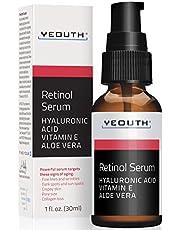 Retinol Serum 2,5% met Hyaluronzuur, Aloë Vera, Vitamine E – Verhoogd de Collageen Productie, Reduceerd Rimpels, Fijne Lijnen, Zelfs Huid verkleuring, Leeftijds en Zon Pigmenten, - 30Ml – YEOUTH – Gemaakt in de USA (1oz)
