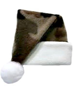 Jacqui's Baby Boys' Fleece Camouflage Santa Hat