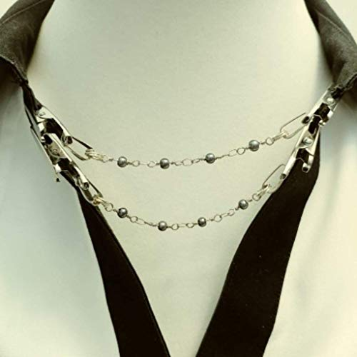 Napkin Clip/Sweater Clip Duo choose bead chain color and from 2 clip -