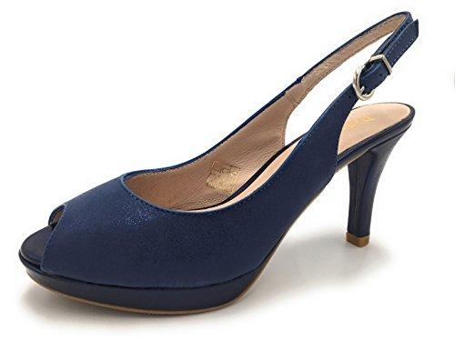plateados Patricia azul Miller de corte zapatos 1351 plata CwvXwqBfP7