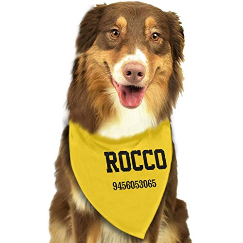 ShowRoom16 Custom Name and Phone Dog Bandana Colorful Bandana for Dogs Doggies Fun Custom Personalized Gifts]()