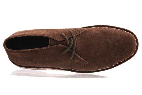 Unze Joha Herren leder desert boots - MK011071 Braun