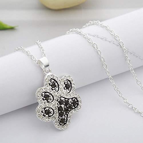 Athena Bronze Pendant - Pendant Glitter Lover Necklace Chain Dog Paw Love Heart Footprint Jewelry