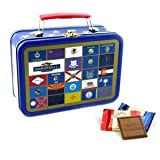 Ghirardelli Chocolate State Flag Lunch Box Tin with Squares Chocolates
