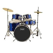 Union DBJ5052(DB) 5-Piece Junior Drum Set with Hardware, Cymbal and Throne-Dark Blue