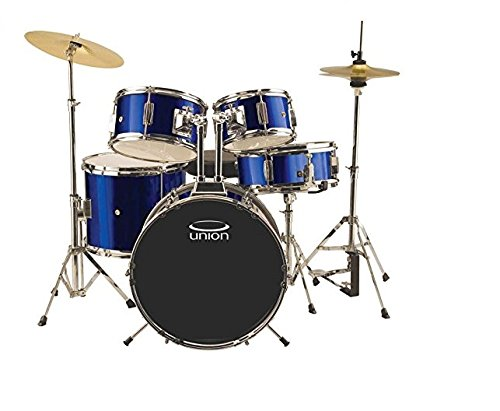 Price comparison product image Union DBJ5052(DB) 5-Piece Junior Drum Set with Hardware,  Cymbal and Throne - Dark Blue