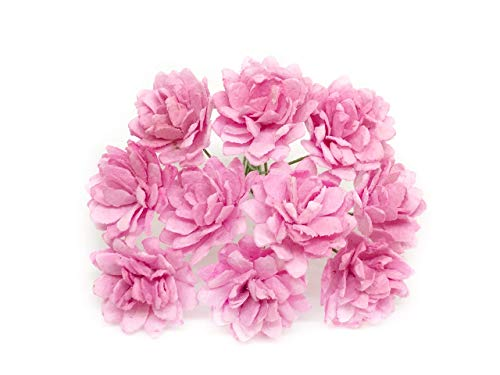Savvi Jewels 2cm Pink Mulberry Paper Flowers, Babys Breath Artificial Flowers, Mini Paper Flowers, Gypsophila Wedding Decoration Craft Flowers 50 Pieces from Savvi Jewels