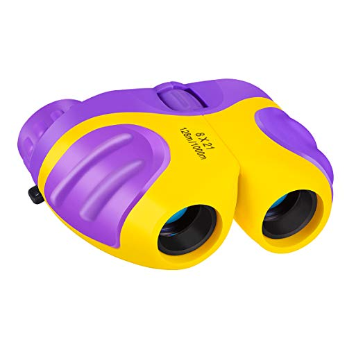 Toys for 3-8 Year Old Boys, Binoculars for Kids 8X21 Shock Proof Compact with High-Resolution Real Optics for Bird Watching, Travel, Safari, Outdoor Fun, Best Gifts for 6-11 Year Old Boys or Girls