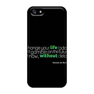 Unique Design Iphone 5/5s Durable Tpu Case Cover Simone De Beauvoir Quote