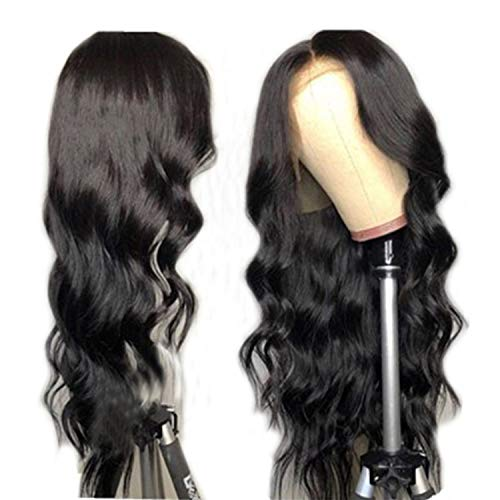 Body Wave Lace Front Human Hair Wigs For Women Pre Plucked Brazilian Remy Hair Wigs 134 Bleached Knots Baby Hair,#1,10inches]()