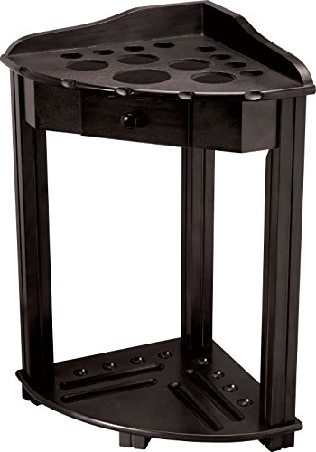 (Action Pool Cue Floor Rack with Drawer, Midnight)