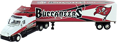 UPC 642464029243, Tampa Bay Buccaneers 2003 NFL Limited Edition Die-Cast 1:80 Tractor-Trailer Semi Truck Collectible