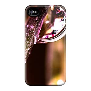 Fashion TkMmjYy1918esmDM Case Cover For Iphone 4/4s(water Drops On Leaf)