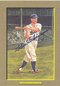 Charlie Gehringer Autographed 6x8 Perez Steele Great Moments Card - Signed MLB Baseball Cards