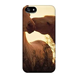 New Snap-on CalvinDoucet Skin Cases Covers Compatible With Iphone 5/5s- Horses In Love