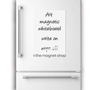 A4 pizarra blanca magnética pizarrón pizarra imán del refrigerador Note Flexible grande
