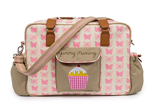 Pink Lining Yummy Mummy Diaper Bag - Wise Owl (Pink Butterflies)