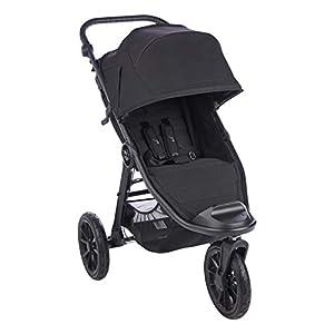 Baby Jogger Poussette Tout-Terrain CityElite2 Poussette Pliable Portable Jet Noir