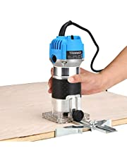 Hand Trimmer Machine, Wood Carving Machine with Carrying Case,800W Woodworking Wood Milling Slotting Machine for Household