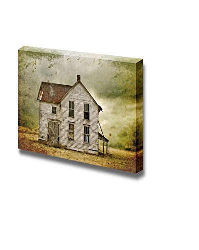 Illustration of Weathered Abandoned Building in Remote Rural Area