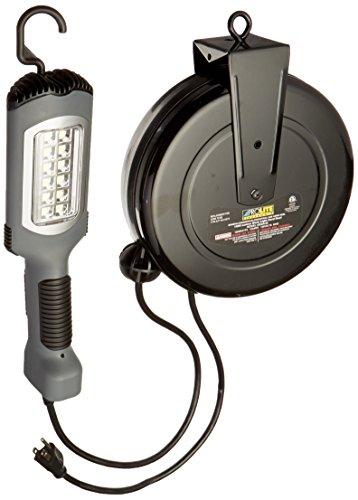 Alert Stamping 5030AHS LED Cord Reel Shop Garage Work Light 1000 Lumens, Gray by Alert Stamping