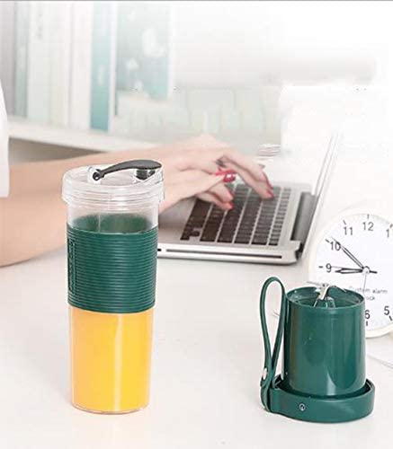 RYDZCLH Licuadora portátil, Licuadora, USB, Taza exprimidora para batidora de Frutas, Batidos Batidos Frutas Verduras, 350 ml: Amazon.es