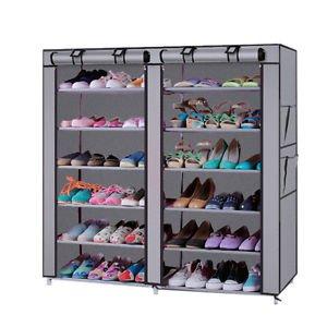 Orril 6 Layer & 2 Column 12 Shelf Shoe Organizer Cum Cloth Cabinet with 20 Year Warranty