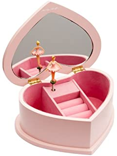 Heart-shaped jewellery Music Box With Rotating Dance Birthday Gift Friend