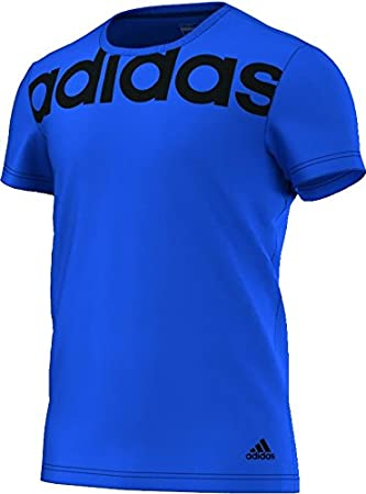 f32517b1 adidas Essentials Linear Men's T-Shirt, Men, Essentials Linear T Shirt, blue