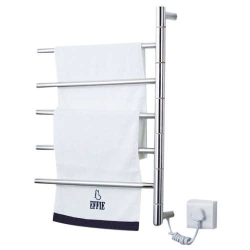 Rotatable Wall Mounted Towel Warmer, Stainless Steel Bathroom Towel Shelf (110-120V) Liinmall