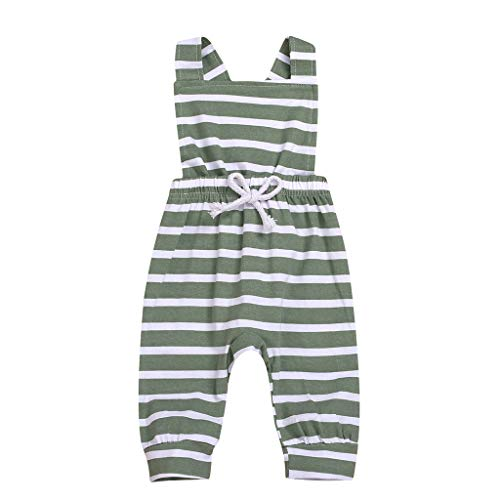 Iuhan Infants Baby Playsuit Toddler Kids Baby Boys Striped Strap Romper Jumpsuit Outfit Clothes Summer ()