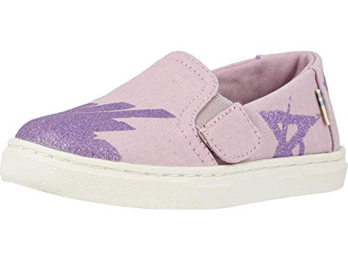 TOMS Kids Baby Girl's Luca (Toddler/Little Kid) Burnished Lilac Glitter Star Canvas 8 M US Toddler