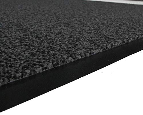 Grey Non Skid Washable Dirt Stopper Kitchen Hallway Mats 1' 4'' x 2' by The Rug House (Image #3)