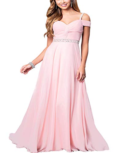 Roiii Women Cleb Prom Formal Casual Party Cocktail Wedding Evening Sleeveless Ruched Neck High Waist Chiffon Plus Size Dress (L, Purple Pink)