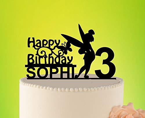 Decoración para tarta de cumpleaños de hada, decoración para ...