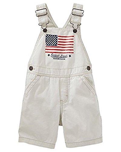 Price comparison product image OshKosh B'gosh American Flag Canvas Shortalls Little Boys Toddler (2t)